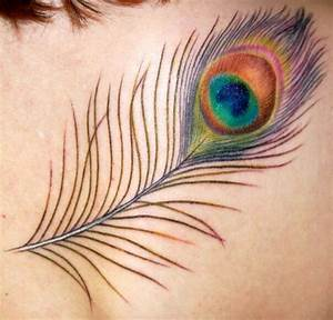 Pretty Peacock Feather Tattoo for Women - CreativeFan
