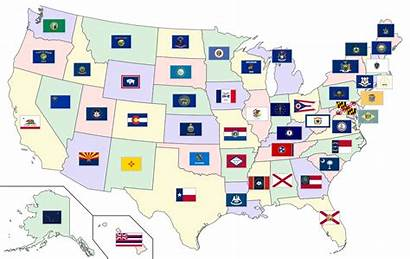 Flags States Wikipedia United Map Territories Wiki