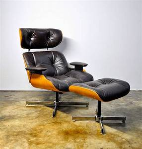 Select, Modern, Plycraft, Eames, Style, Leather, Lounge, Chair, U0026, Ottoman