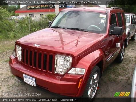 red jeep liberty 2012 deep cherry red crystal pearl 2012 jeep liberty sport