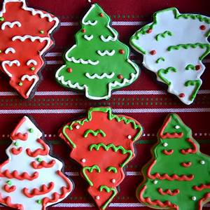 Chocolate Christmas Tree Sugar Cookies - A Dash of Megnut