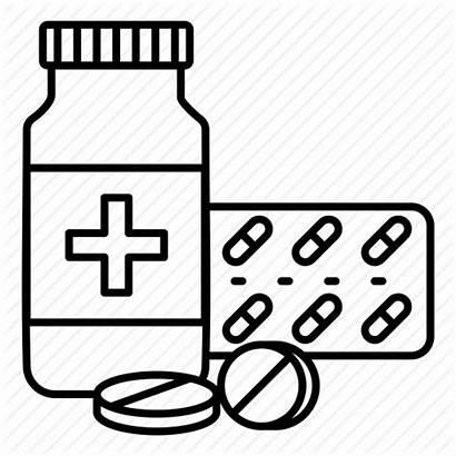 Medicine Bottle Clipart Drug Outline Medication Syrup