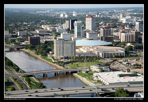 Downtown Aerial of Wichita, Kansas | Downtown Skyline of ...