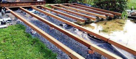 einfache unterkonstruktion holzterrasse unterkonstruktion holzterrasse unterkonstruktion terrasse aus holz und holzterrasse