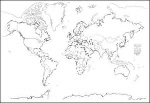Blank World Map Countries Outline