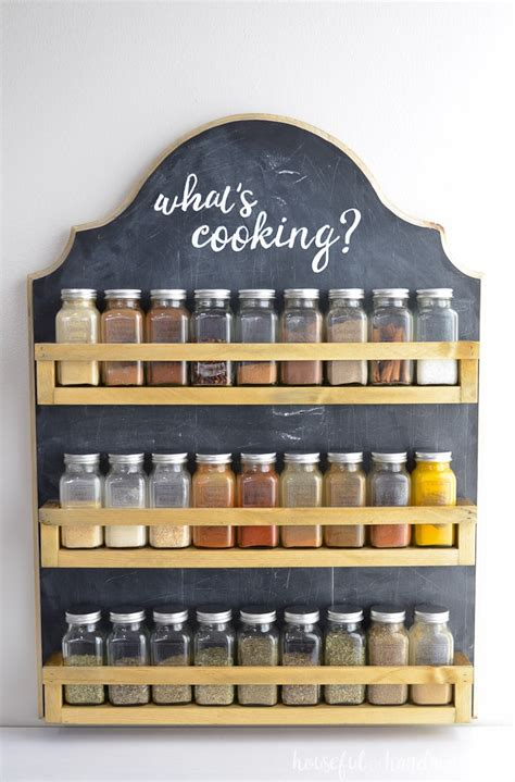 Make A Spice Rack by Wooden Spice Rack Build Plans A Houseful Of Handmade