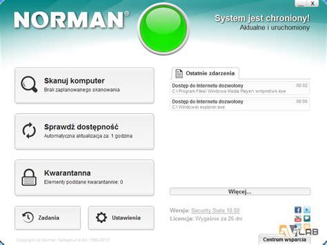 sprawdzenie aktualizacji komputera norman security suite niedoceniana potega ochrony avlab pl
