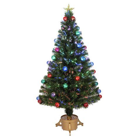 best artificial christmas trees with led lights shop merske jolly workshop 4 ft pre lit artificial