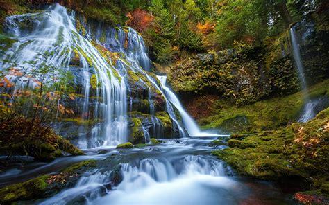 panter creek falls waterfall  meters high panther creek