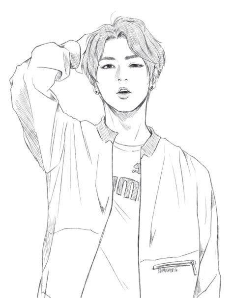49+ Bts V Coloring Pages Pics