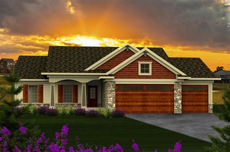 Craftsman Style House Plan 3 Beds 2 Baths 1351 Sq/Ft