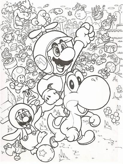 Mario Super Coloring Bros Wii Pages Printable