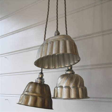 vintage pendant lights for kitchens vintage jelly mould pendant lights by folly glee