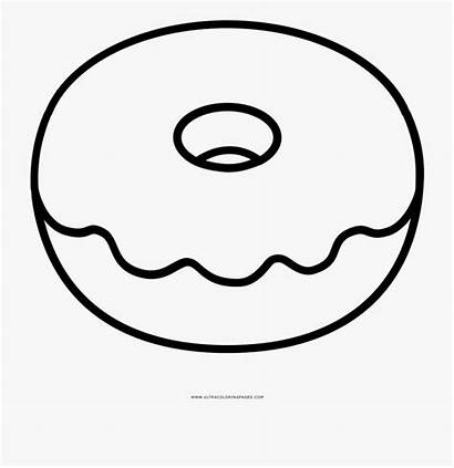 Donut Coloring Clipart Donuts Doughnut Clip Colouring