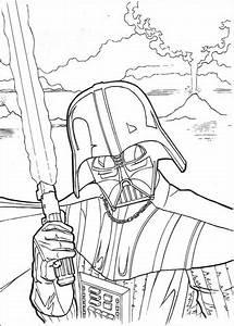 Ausmalbild Darth Vader Mit Laserschwert Ausmalbilder