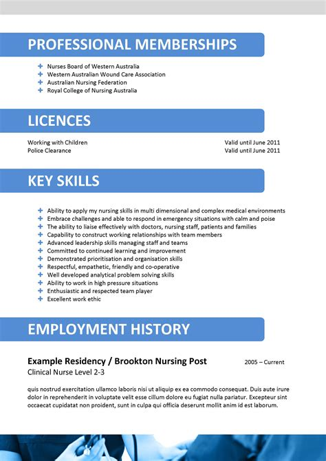 Nursing Resume Format Australia by We Can Help With Professional Resume Writing Resume