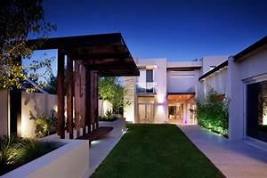 lawn pergola lighting stunning riverside home in perth With exterior house lighting australia