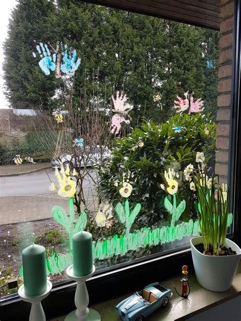 Fingerfarbe Fenster by Fensterbild Kleiner Kfer Sommerdekoration Tonkarton T