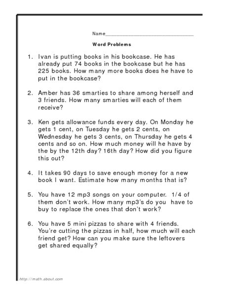 word problems addition subtraction multiplication