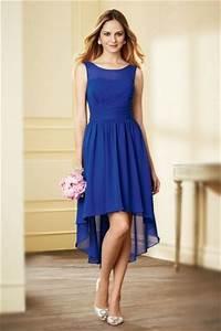 Robe Bleu Demoiselle D Honneur : robe simple bleu de roi courte devant longue derri re pour demoiselle d 39 honneur ~ Dallasstarsshop.com Idées de Décoration