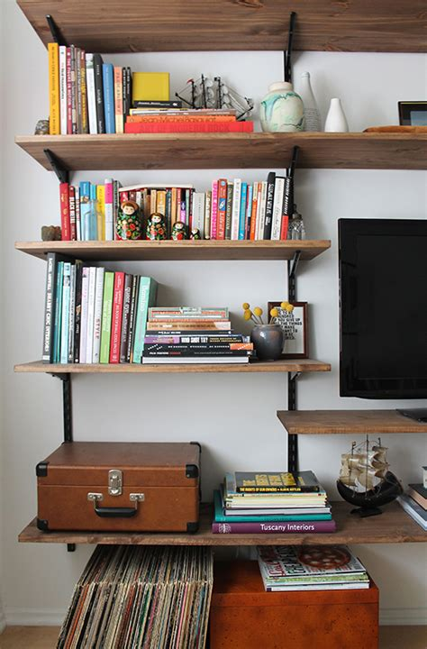 how to make a wall shelf 40 easy diy bookshelf plans guide patterns