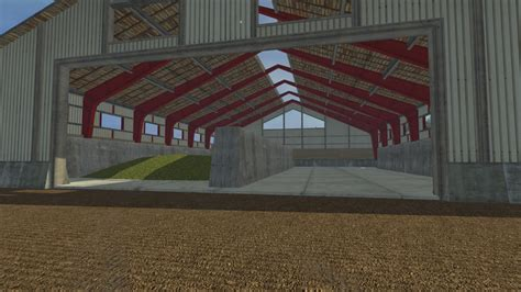 silage shed building   farming simulator   mod