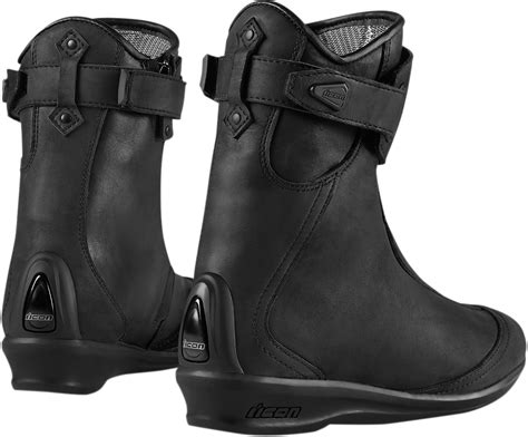 motorcycle street racing boots womens icon black armored eastside leather motorcycle