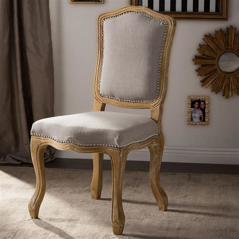 baxton studio chateauneuf beige fabric upholstered dining