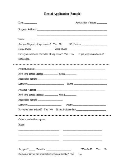 basic rental application template