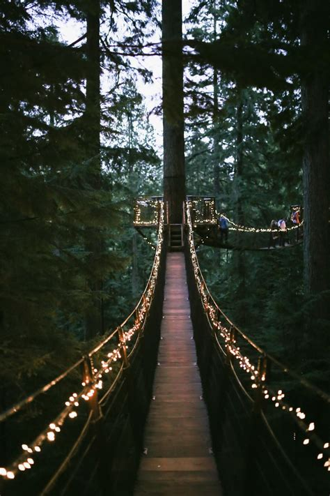 capilano suspension bridge     christmas