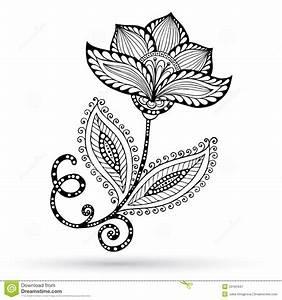 Henna Muster Schablone : henna paisley mehndi doodles abstract mit blumen vektor abbildung illustration von paisley ~ Frokenaadalensverden.com Haus und Dekorationen