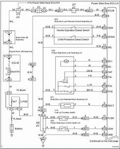 Toyota Sienna Service Manual  Power Slide Door Lh Does Not Operate When Satellite Switch Is