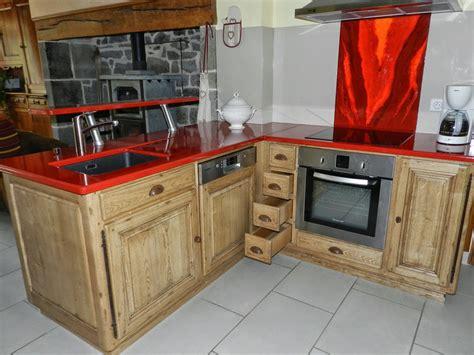cuisine equipee bois cuisine plan de travail bois