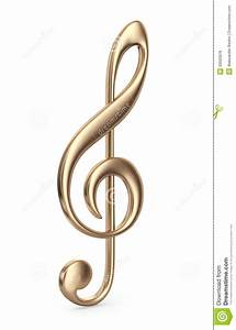 Golden Music Note. 3D Icon Royalty Free Stock Photos ...