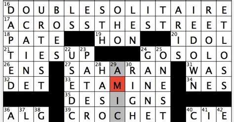rex parker does the nyt crossword puzzle light cotton