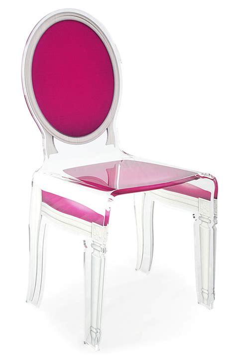 chaise plexiglas fauteuil medaillon