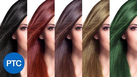 change hair color  photoshop including black hair  blonde