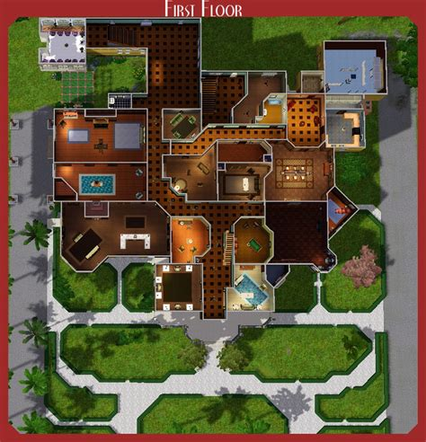corner media center mod the sims the winchester mystery house
