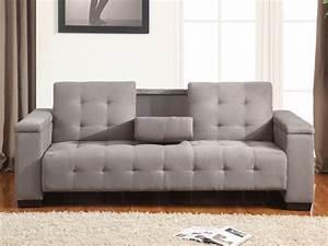Canapé Ultra Moelleux : canap clic clac 3 places devonshire avec tablette ~ Teatrodelosmanantiales.com Idées de Décoration