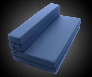 Tri fold foam folding mattress sofa bed dudeiwantthatcom for Tri fold sofa bed mattress