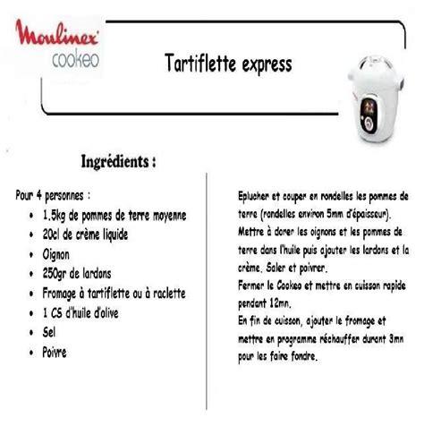 recette de cuisine pas cher tartiflette recettes cookeo