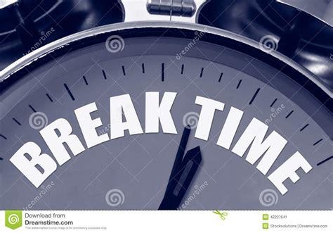 Break Time Concept Stock Photo