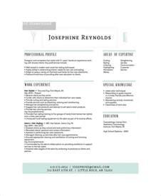 hair stylist resumes templates hair stylist resume exle 6 free pdf psd documents free premium templates