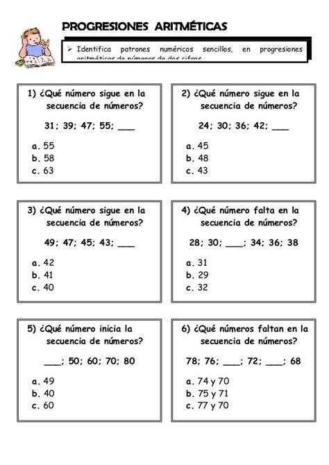 ejercicios matematicos   grado matematicas cuarto