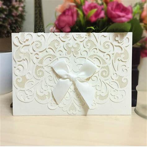 30pcs Laser Cut Wedding Invitations Cards Romantic Mariage