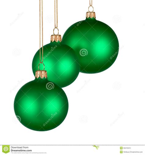 christmas arrangement with green baubles stock photo
