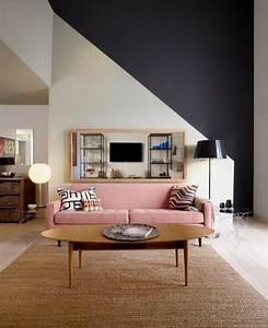 Canapé Rose Pale : quelle couleur pour un salon 80 id es en photos ~ Teatrodelosmanantiales.com Idées de Décoration