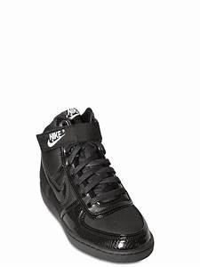 nike vandal high top sneakers in black for lyst