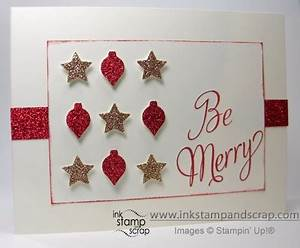 Sparkly Stampin Up Christmas Card