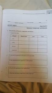 Elements Compounds And Mixtures Coloring Worksheet